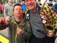 Marco und Saxophonist