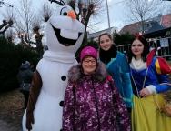 Olaf, Veronika, Elsa und Schneewittchen (v.l.)...